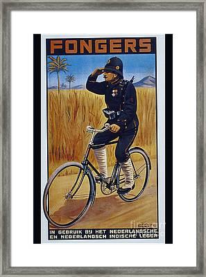 Fongers In Gebruik Bil Nederlandsche En Nederlndsch Indische Leger Vintage Cycle Poster Framed Print