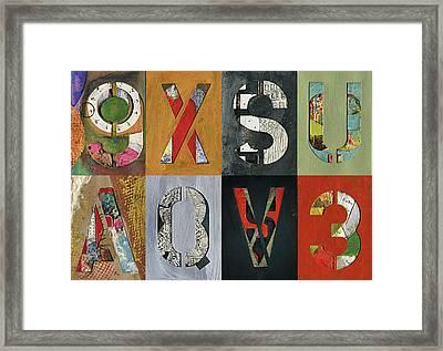8 Number Letter Grid  Framed Print