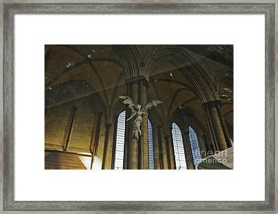 Font Reflections Of An Angel Framed Print