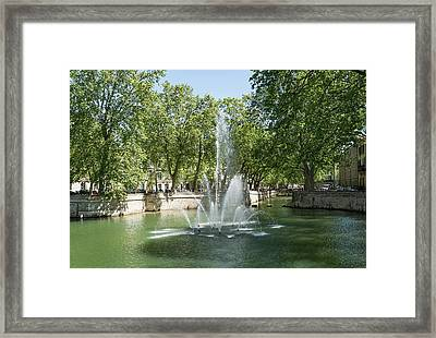 Framed Print featuring the photograph Fontaine De Nimes by Scott Carruthers