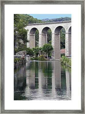 Framed Print featuring the photograph Fontaine De Valcluse In Provence by Stan and Anne Foster