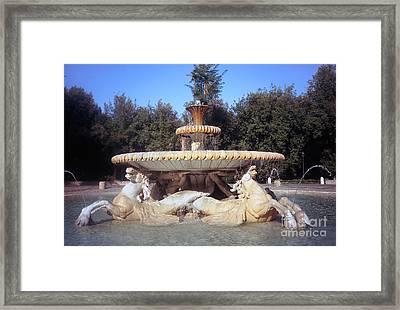 Fontana Dei Cavalli Marini  Framed Print by Fabrizio Ruggeri