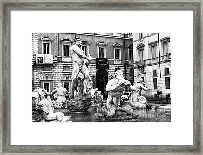 Fontana Del Moro 2015 Framed Print by John Rizzuto