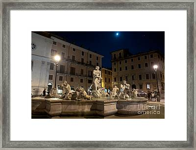 Fontana Del Moro I Framed Print by Fabrizio Ruggeri
