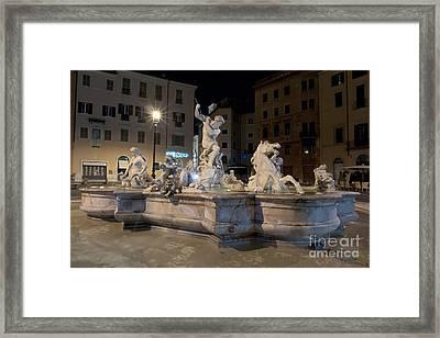 Fontana Del Nettuno I Framed Print by Fabrizio Ruggeri