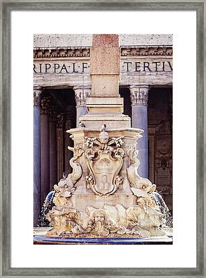 Fontana Del Pantheon - Pantheon Fountain II Framed Print by Melanie Alexandra Price