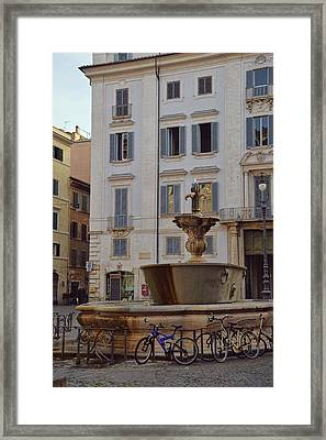 Fontana Di Piazza Farnese Framed Print by JAMART Photography