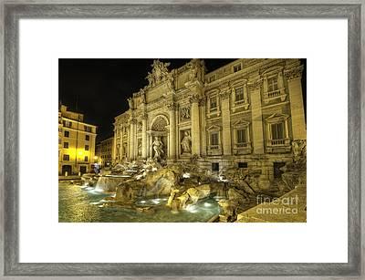 Fontana Di Trevi 1.0 Framed Print