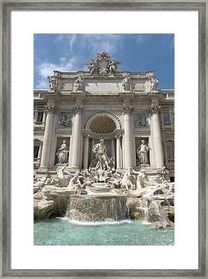 Fontana Di Trevi In Rome I Framed Print by Fabrizio Ruggeri