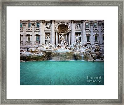 Fontana Di Trevi Pool Framed Print by Inge Johnsson
