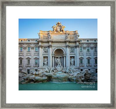 Fontana Di Trevi Sunrise Framed Print by Inge Johnsson