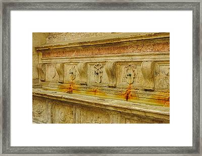 Fonte Oliviero In Assisi Italy Framed Print by Marilyn Burton