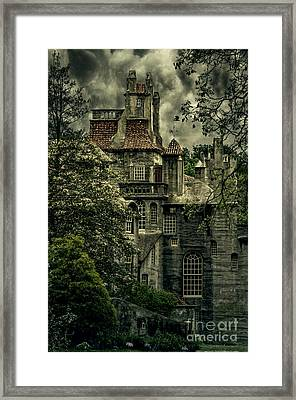 Fonthill With Storm Clouds Framed Print by Debra Fedchin