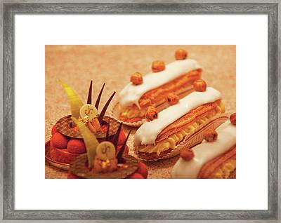 Food - Cake - Little Cakes Framed Print by Mike Savad