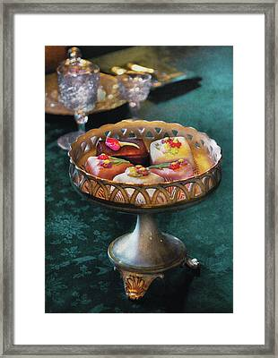 Food - Cake - Petit Four's Anyone Framed Print by Mike Savad