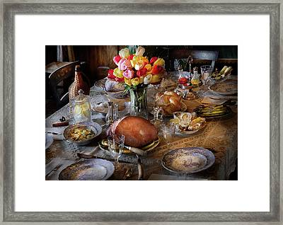 Food - Easter Dinner Framed Print