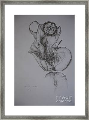 Food And Plastic Framed Print by Vipula Saxena