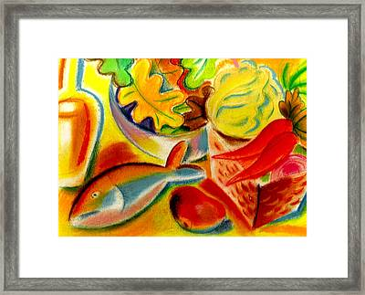 Food And Weight Loss  Framed Print