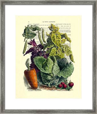 Food Art Framed Print