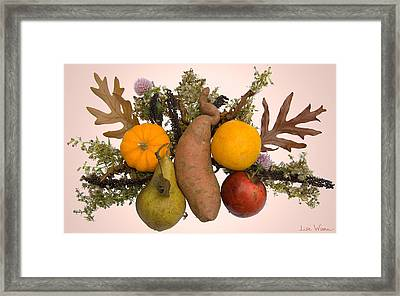 Framed Print featuring the digital art Food Bouquet by Lise Winne