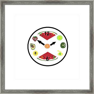 Food Clock Framed Print