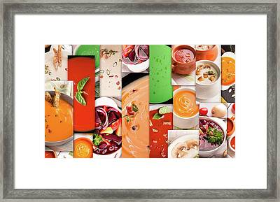 Food Collage Framed Print by Vadim Goodwill