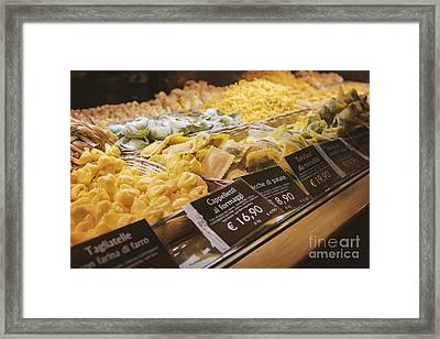 Food Court Pasta Framed Print by Sophie McAulay