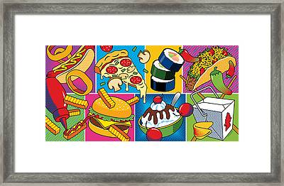 Food Essentials Framed Print by Ron Magnes