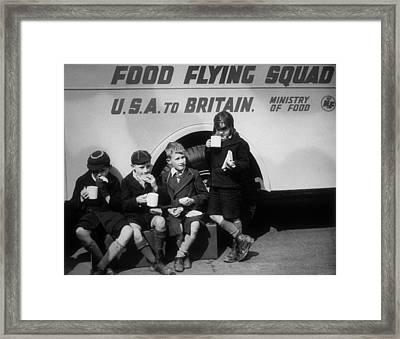 Food Flying Squad Framed Print
