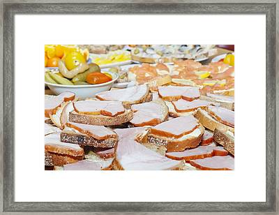Food For The Holiday  Framed Print