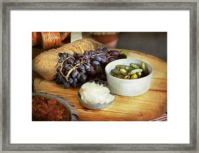 Food - Fruit - Gherkins And Grapes Framed Print