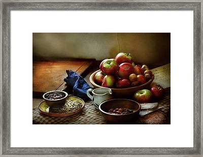 Food - Fruit - Ready For Breakfast Framed Print by Mike Savad