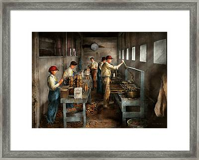 Food - Ice Cream - Sanitary Ice Cream Cones 1917 Framed Print by Mike Savad