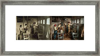 Food - Ice Cream - Sanitary Ice Cream Cones 1917 - Side By Side Framed Print
