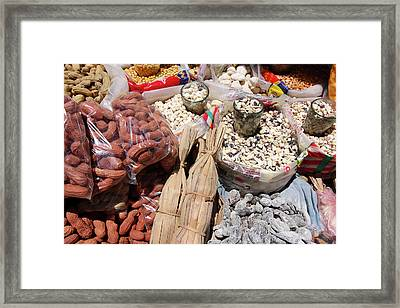 Framed Print featuring the photograph Food Market by Aidan Moran