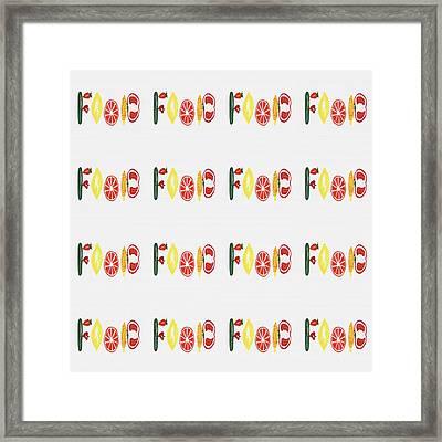 Food Pattern Framed Print