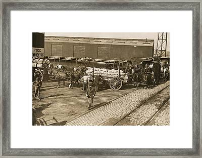 Food Relief For Belgium Framed Print by Underwood Archives