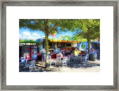 Food Trucks At Seaside Florida Framed Print