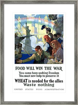 Food Will Win The War Framed Print by War Is Hell Store