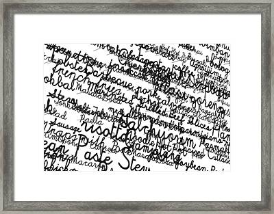 Food Words Framed Print by Valentino Visentini