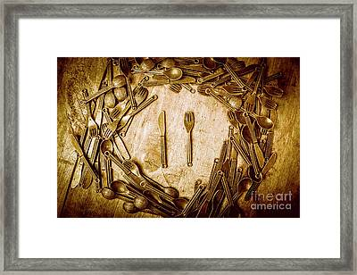 Foodies Circle Framed Print