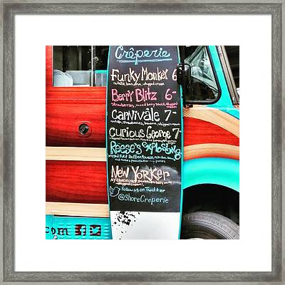 Funky Monkey Food Truck Framed Print