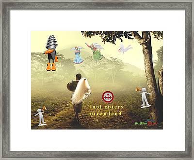 Fool Enters Dreamland Framed Print