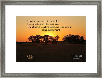 Fooled Framed Print