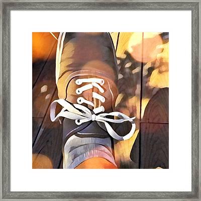 Foot At Rest Framed Print by Steven Gordon