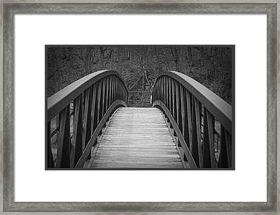 Foot Bridge Framed Print by John Ohm