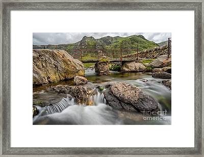 Foot Bridge Snowdonia Framed Print by Adrian Evans