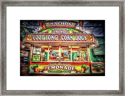 Framed Print featuring the photograph Foot Long Corn Dogs by Spencer McDonald