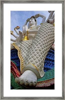 Foot Of Buddha Framed Print