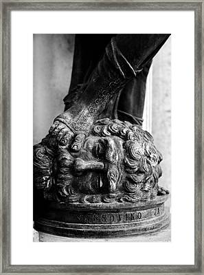Foot Rest B-w Framed Print by Christopher Holmes